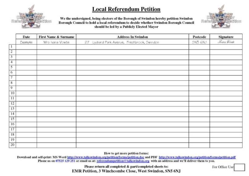 Paper Petition: How & Where To Obtain Paper Petition Sheets